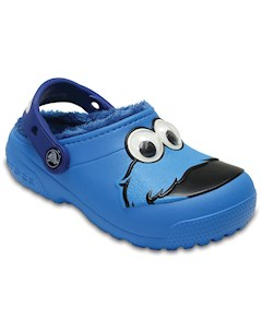 Fun Lab Fuzz Lined Cookie Monster Clog CROCS
