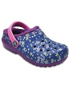 Kids Classic Fuzz Lined Graphic Clog CROCS