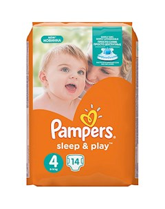 Подгузники Pampers Sleep Play Maxi 8 14 кг 14 шт