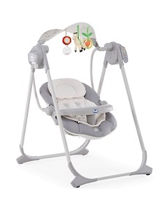 Электрокачели Chicco Polly Swing Up silver