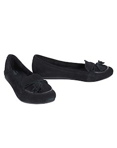 Туфли Lina Suede Loafer Black цвет черный