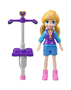 Мини кукла Polly Pocket Active Полли с пого стиком Mattel