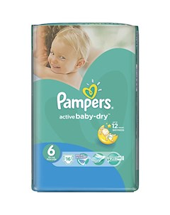 Подгузники Pampers Active Baby Dry 15 кг 6 размер 16 шт Pampers