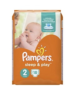Подгузники Pampers Sleep Play Mini 3 6 кг 18 шт