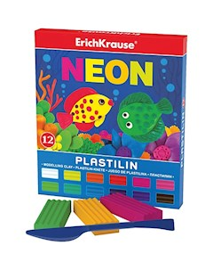 Пластилин Neon 12 цветов 216г стек Artberry ErichKrause
