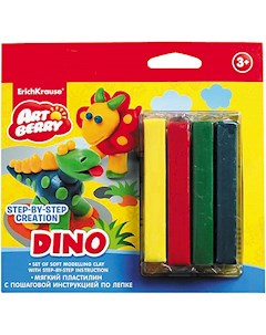 Пластилин мягкий 4цв инструкция Dino Step by step Сreation Artberry ErichKrause