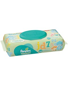 Салфетки детские влажные Pampers Natural Clean 64 шт Pampers
