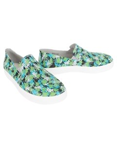 Слипоны CitiLane Roka Tropical Slip on Electric Blue White цвет белый голубой CROCS
