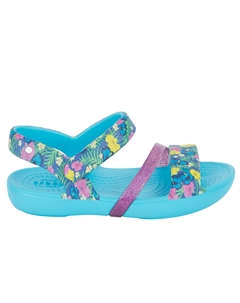 Сандалии Crocs Little Lina Electric Blue, цвет: голубой CROCS