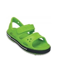 Сандалии Crocs Crocband II Sandal PS Volt Green/Navy, цвет: зеленый CROCS